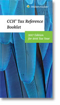 CCH® Tax Reference Booklet, 2017 Edition, for 2016 Tax Year