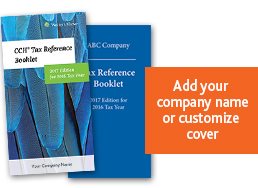 CCH Tax Reference Booklet, 2017 Edition, for 2016 Tax Year